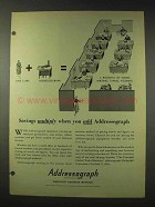 1948 Addressograph Ad - Savings Multiply When You Add