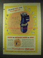 1948 Westinghouse Waste-Away Garbage Disposal Ad!