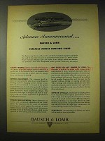 1948 Bausch & Lomb Variable-Power Hunting Sight Ad