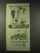 1948 Quaker State Oil Ad - What Did These Signs Say?