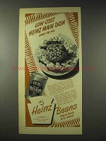 1948 Heinz Oven Baked Beans Ad - Low-Cost Dish