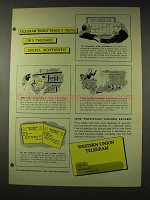 1948 Western Union Telegram Ad - Reach People