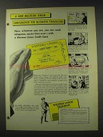 1948 Western Union Telegram Credit Card Ad