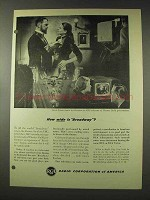 1948 RCA Television Ad - How Wide is Broadway?