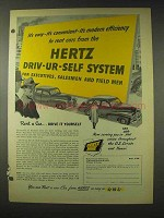 1948 Hertz Rent-a-Car Ad - Driv-ur-Self