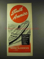 1948 Moore-McCormack Cruise Lines Ad