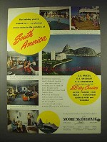 1948 Moore-McCormack Cruise Lines Ad - South America