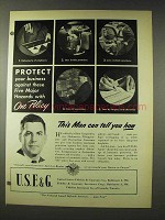 1948 U.S.F.&G. Insurance Ad - This Man Can Tell You