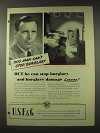 1948 U.S.F.&G. Insurance Ad - Stop Burglary Losses