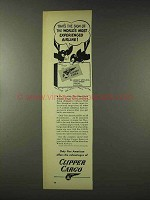 1948 Pan American Clipper Cargo Ad - Most Experienced