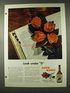 1948 Four Roses Whiskey Ad - Look Under D