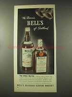 1948 Bell's Scotch Ad - The Bonnie Bells of Scotland