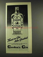 1948 Gordon's Gin Ad - No Gin Like Gordon's