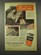 1948 Eveready Flashlight Batteries Ad - Solder Wire