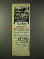 1948 Zenith 75 Radionic Hearing Aid Ad - Hear Better