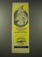 1948 Pennzoil Oil Ad - Double Action!