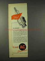 1948 AC Spark Plugs Ad - First in Ceramics