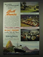 1948 Moore-McCormack Lines Cruise Ad - You Promised