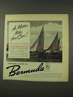 1948 Bermuda Tourism Ad - A Million Miles From Care