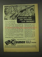 1948 Crosman Rifles & Pistols Ad - Shooting's Fun