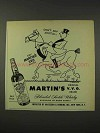 1948 Martin's V.V.O. Scotch Ad - O. Soglow - Don't Say