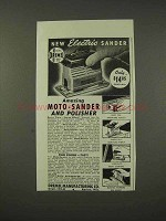 1948 Dremel Moto-Sander Ad - New Electric Sander