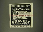 1948 Gravely Tractor Ad - Before You Buy Any Tractor