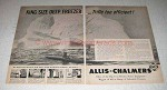 1948 Allis-Chalmers Ad - King Size Deep Freezer