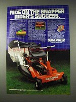 1982 Snapper Hi-Vac Rider Lawn Mower Ad - Success