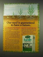1980 Scotts Family Grass Seed Mixture Ad - Have Future