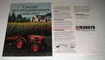1980 Kubota B7100DT Tractor Ad - Can Raise Corn