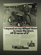 1979 Wheel Horse Lawn Tractor Ad - Mow 10 Acres