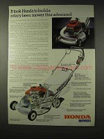 1979 Honda HR-21 Lawn Mower Ad - This Advanced