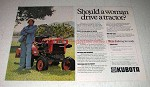 1979 Kubota Tractor Ad - Should a Woman Drive?