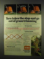1978 Toro Line Trimmer Ad - Takes Stop-and-Go Out