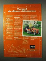 1978 Toro Riding Mower Ad - Test Read the Ultimate