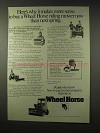 1978 Wheel Horse Lawn and Garden Tractor Ad