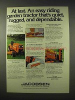 1977 Jacobsen Garden Tractor Ad - Rugged Dependable