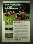 1973 Gravely Riding Tractors Ad - 8-Speed Transmission