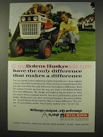 1968 Bolens Husky Lawn Tractor Ad - Makes Difference
