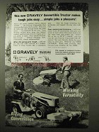 1967 Gravely Convertible Tractor Ad - Tough Jobs Easy