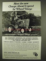 1967 Wheel Horse Tractor Ad - Charge Ahead