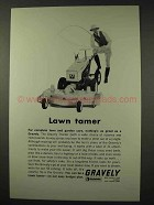 1965 Gravely Lawn Tractor Ad - Lawn Tamer