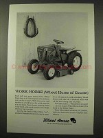 1964 Wheel Horse Lawn Tractor Ad - Work Horse
