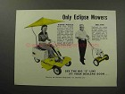 1960 Eclipse Riding, Reel-type Lawn Mower Ad!