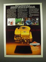 1982 Briggs & Stratton Motor Ad - Quality Innovation