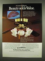 1980 Casablanca Victorian Fan Ad - Beauty Adds Value