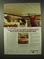 1979 Armstrong Suspended Ceiling Ad - Dress it Up!