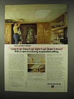 1977 Armstrong Suspended Ceilings Ad - Quiet it Down