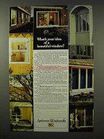 1972 Andersen Windowalls Ad - Idea of Beautiful Window